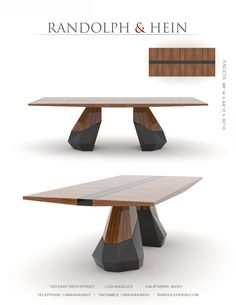 Faceta Table by Randolph & Hein
