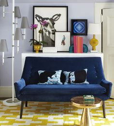 Our iconic designer furniture collections evoke mid-century modern design. Find luxury home furnishings to adorn your living room, bedroom, dining room and small spaces. Decor, Contemporary Interior Design, Colourful Living Room, Settee, Modern Sofa, Living Room Designs, Living Room Sets Furniture, Home Decor, Living Room Furniture
