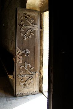 Medieval Arpadian age church door