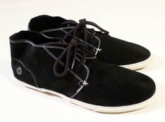 Mens Size 12 Black Suede Chukka Style AIRWALK Shoes, Sneakers