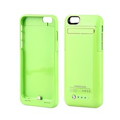 Muze-Green Iphone 6 4.7 Inch External Battery Pack Case, Slim External Backup Portable Power Bank Charger Case 3500mah Rechargeable and Removable Battery Extended Case Cover With Pop-out Video Viewing Stand Retail Package (for iphone 6/Green/1pcs) Kujian http://www.amazon.co.uk/dp/B00PUAPDM0/ref=cm_sw_r_pi_dp_KnKFvb1X2NA4X