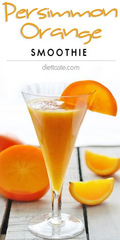 Persimmon Orange Smoothie - great way to start you day in fall/winter - diettaste.com