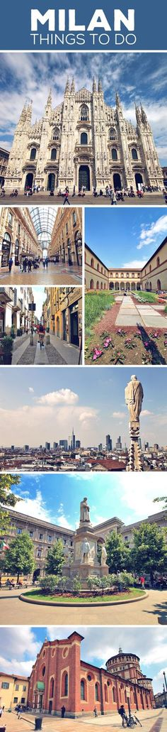 Sightseeing tips and things to do in Milan, Italy: Duomo of Milan | La Scala Opera House | Sforza Castle & Museum | Santa Maria delle Grazie | Brera District | Galleria Vittorio Emanuele II | More on my blog: How To Travel Italy By Train - A First Timer's Guide incl. Things To Do And Places To Stay (just click on the image) via @Just1WayTicket | Interrail Eurail Europe Train Travel Milano