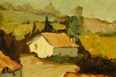 Boonzaier, South African Cottages, Oil on Canvas