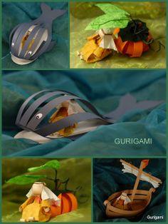 gurigami: Jónás története - egységcsomag Jonah paper craft