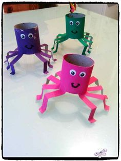Colorful spiders - My creative moods from Flo -  Colorful spiders – My creative moods from Flo  #Colorful #Flo #Halloween #creative #My  - #ArtHistory #colorful #creative #FamousArtists #Flo #moods #PinUpArt #spiders<br> Halloween Crafts For Kids, Diy Crafts For Kids, Craft Ideas, Halloween Art, Creative Crafts, Seashell Crafts Kids, Holiday Crafts, Easy Crafts, Budget Crafts