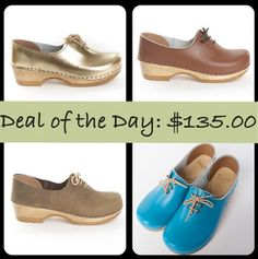 DEAL OF THE DAY: $135.00 - Sven Clogs  Choose any color!! http://www.svensclogs.com/closed-back-clog-with-tie-low-heel.html Sven Clogs - Google+