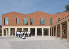 Feilden Fowles reinterprets classical typologies for red brick school building in Somerset.