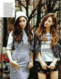 Yuri and Tiffany SNSD Girls' Generation - Vogue Girl Magazine February Issue 2014