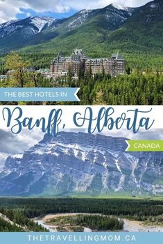 Dreaming of a fresh air escape to Banff National Park? From mountain castles to forested chalets and chic downtown getaways, we're sharing our favorite accommodation picks in this discerning guide to the best hotels in Banff, Canada. Banff Canada Hotels, Banff Hotels, Canada Destinations, Family Resorts, Hotels And Resorts, Best Hotels, Travel Usa, Travel Tips, Travel Ideas