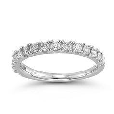 14k White Gold Diamond Anniversary Band (1/2 cttw, H-I Color, I1-I2 Clarity), Size 8