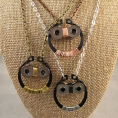 Upcycled Simple Owl Pendant by TheHippieSpot on Etsy, $19.95