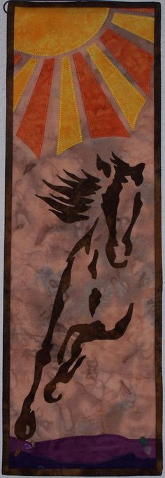 Running Free - Wild Horse Quilted Wall Hanging Pattern.