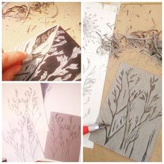 I loved spending time with lino cutting, I haven't done this for quite a while but I wanted to do some printing and see where it takes me; it is so time consuming but relaxing and it gave me time to really look at the detail of every leaf and intricate cutting; and as I have showed you my illustrations to create this, you would like to see my work in progress...from hand-drawing to block printing, what do you think of it to now? Bags? Lampshades? Cushions? ☺🌱🔎✒⬛🔲 #botanicalprint…