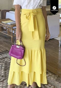 Green Dress Casual, Casual Dresses, Modest Fashion, Fashion Outfits, Yellow Clothes, Long Skirts For Women, Maxi Shirt Dress, Latest African Fashion Dresses, Skirt Outfits