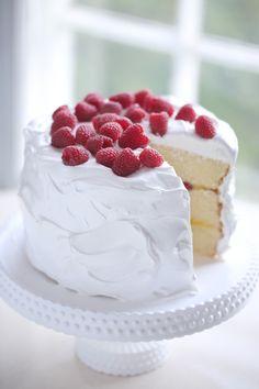 Lemon raspberry and lemon curd sandwich cake with vanilla bean frosting