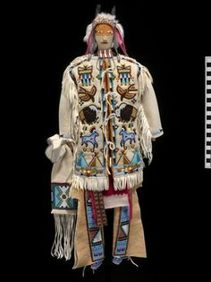 """Assiniboine Chief"". No date, artist or other identifying information."