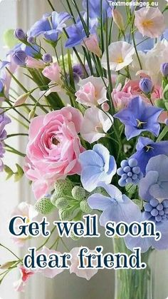 A strong and meaningful inspirational message can give confidence to get up on his feet. Get Well Soon Messages For Friend are very delightful and special.