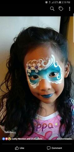 Simple face painting designs are not hard. Many people think that in order to have a great face painting creation, they have to use complex designs, rather then Princess Face Painting, Girl Face Painting, Face Painting Tips, Face Painting Tutorials, Face Painting Designs, Face Paintings, Tole Painting, Mask Face Paint, Face Paint Makeup
