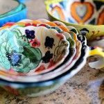 pretty measuring cups and spoons.  Not sure how practical they are, but they sure are purty.