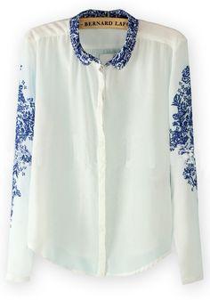 Delft-inspired blouse