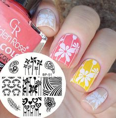 BORN PRETTY Nail Art Stamping Plate Cute Windmills Image Template BP51