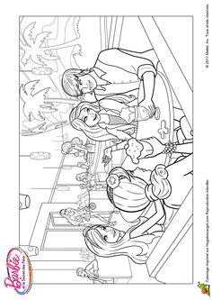 Coloriage Barbie Et Le Secret Des Fees 05 Sur Hugolescargot