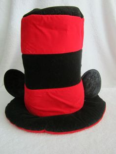 New Disney Parks Mickey Mouse Red & Black Striped Top Hat Ears NWT Costume ENDS SOON!