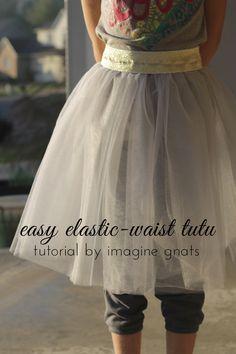 tutorial: easy elastic waist tutu || imagine gnats
