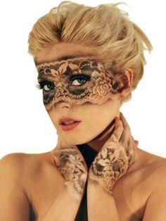 Lace Stencil Makeup