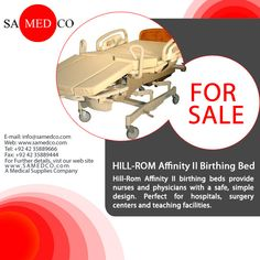 HILL-ROM Affinity II Birthing Bed furnishes medical caretakers and M.D.S with a sheltered, basic design. Perfect for doctor's facilities, surgery focuses and enlightening offices. This Bed comes with various features side guard communications, placenta pan, air sleep surface, foot and calf supports, C-cut / V-cut mattress and custom head boards.