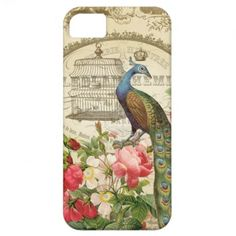 Vintage French Peacock iphone 5 case