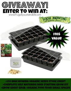 The Ultimate Garden Seed Starting Giveaway from High Mowing Seeds & Frugally Sustainable