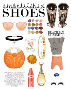 """Embellished Shoe; Upside Down"" by yemmy-made on Polyvore featuring Gucci, Veronica Beard, BCBGMAXAZRIA, Betsey Johnson, Delfina Delettrez, Christian Dior, Clinique, Paul Smith, contest and embellishedshoes"