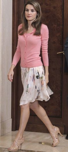 Queen Letizia in a lovely refreshing springtime outfit