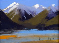 """Daily Paintworks - """"Blue Lake"""" by Tony Allain"""