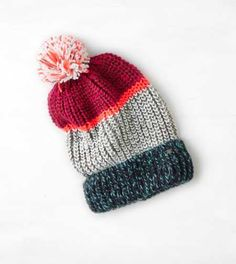 AEO Striped Pom-Pom Beanie - Buy One Get One 50% Off