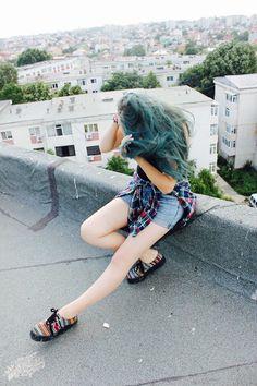 #awesome#view#blue#hair#tumblr