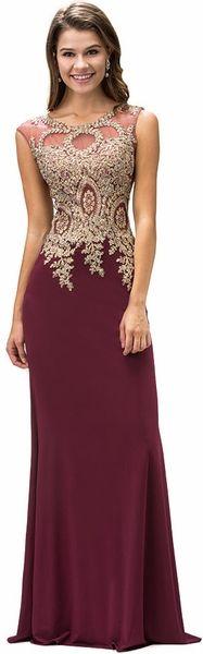 Burgundy Gold Black Tie Gown Lace Bodice #discountdressshop #burgundy #blacktiegown #pageantdress #formalwear #womensfashion