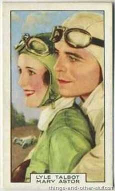 Mary Astor with Lyle Talbot in Racing Luck - 1935 Gallaher tobacco card