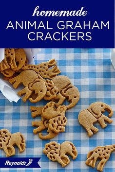 Make your childhood animal cracker cookies come to life in your own kitchen with this Homemade Animal Graham Crackers recipe! Light and delicious, they can be enjoyed by kids and adults alike. Line your pans with Reynolds® Parchment Paper, available in rolls or pre-cut sheets, for cookies that don't stick and fast, easy cleanup. Your animal cookies will be jumping off the pan!
