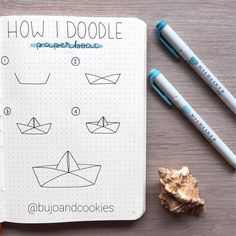 "Hi everyone! 🤗 Today I want to share with you this ""how I doodle"" page where I show you how I draw the paper boat you've seen in many…"