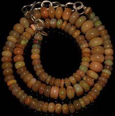 "75 Crts 1 Strands 5 to 8 mm 15"" Beads Ethiopian Welo Opal  AA+++833"