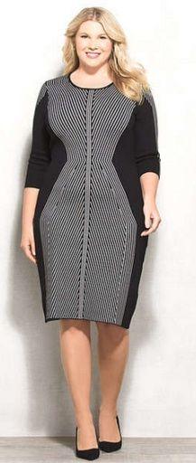 19b8a6c82 Стильная одежда для полных дам: деловые платья и костюмы. Фото ...