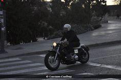 Motociclist retro