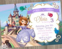 Princess Sofia Favor Tags Sofia the first name tags Sofia Princess Sofia Birthday, Cute Princess, Princess Peach, Sofia The First, Name Tags, Favor Tags, Birthday Parties, Paper Crafts, Invitations