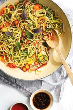 Rainbow Lo Mein Recipe (dairy-free, gluten-free, vegan option) from No Excuses Detox