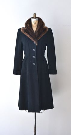 Roosevelt Park princess coat / vintage 1940s wool by DearGolden, $345.00