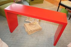 IKEA Hackers: Upholstered Malm Console Table