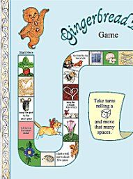 Jan Brett Board game (we printed this for our youngest's gingerbread birthday party)... Her website is FULL of great printables.  Our youngest's favorite author/illustrator.  Got to see her with my girls- they sat on the edges of their seats and hold her in such admiration.  Go to her website for her book tours!